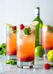 Pineapple Raspberry Wine Spritzer (Yack_Attack) Tags: vegan vegetarian alcohol beverage brunch summer spring pineapple raspberry whitewine spritzer easy fresh drinks sparklingwater veganyackattack jackiesobon foodstylist foodphotographer nikon d750 glutenfree soyfree dairyfree nutfree