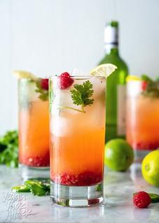 Pineapple Raspberry Wine Spritzer