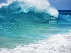 Double wave (thomasgorman1) Tags: double waves fujifilm green beach shore hawaii oahu nature kaena