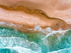The beach at Bore (Norway) (B.AA.S.) Tags: beach water norway norge drone sea sand waves wave abstract abstrakt nature natur rogaland klepp borestranden bore lookingdown texture