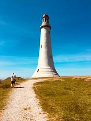 Sir John Barrow Monument erected in 1850 a replica of Eddystone Lighthouse. (Bennydorm) Tags: hoadhill walker southlakeland inghilterra inglaterra angleterre europe uk gb britain england cumbria furness ulverston sky sunny iphone6s giugno junio june juni hoad hill lighthouse monument