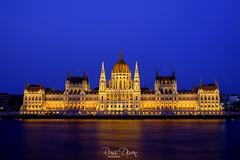 Hungarian Parliament (Russ Dixon Photography) Tags: russdixon russdixonphotography budapest hungary parliament night europe river danube architecture fujixe2 longexposure bluehour
