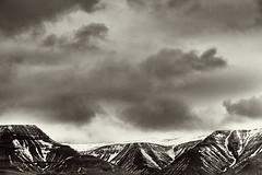 Þingvallavegur View (2) (pni) Tags: monochrome sky cloud view landscape fell mountain snow frombuswindow þingvallavegur is18 iceland ísland pekkanikrus skrubu pni