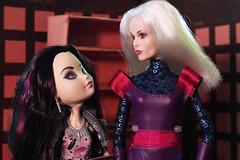 Clea in the Sanctum07 (Black Rose Bride) Tags: ravenqueen dolls datenight clea marvel custom cinderella2015 disney mattel everafterhigh fairygodmother