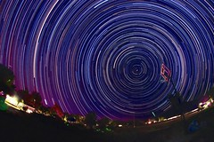 Basketball Star Trails (RStonejr) Tags: rs2pics canoneos flickr new canont3i colorful colors basketball fisheyestartrails rokinon8mmlens rokinon 8mmfisheyelens 8mmlens 8mm eos canon owensvalley longexposure night unofficial stone ross beauty pretty outside stax starstax startrail startrails star stars
