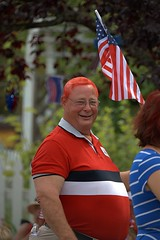 Red Head (Scott 97006) Tags: parade guy man hair color smile flag
