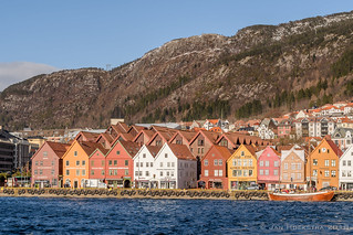 Bergen with a boat