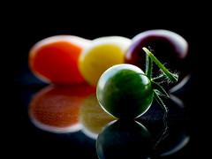 Macro Mondays - Multicolor (somareja*pictures) Tags: lowkey cherrytomaten tomaten multicolor macromondays olympusem10 olympusdigital flickr markusreber somarejapictures