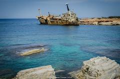 EDRO III (frattonparker) Tags: btonner lightroom6 nikond7000 raw wrecks frattonparker mediterranean coast cyprus ship abandoned derelict nikkor350mmf18