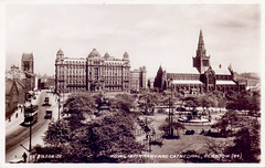Glasgow Royal Infirmary and Cathedral. (Paris-Roubaix) Tags: glasgow royal infirmary townhead dennistoun cathedral valentines postcards scotland antique vintage scottish tramcars provands lordship glasgows oldest house barony chambers high street