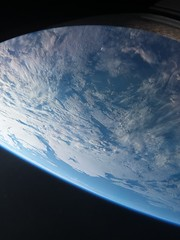 View from the Soyuz (Astro_Alex) Tags: soyuz horizons iss space mission