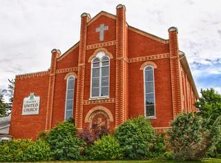Elora Ontario - Canada  - Elora United Church  - Heritage Building