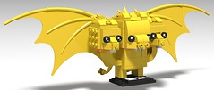 King Ghidorah (the three headed monster) custom brickhead (KaijuWorld) Tags: lego custom moc brickheadz godzilla king ghidorah kaiju japan monsters space devil 3heads hydra zero ldd