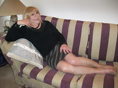 Chilling In A Skirt (rachel cole 121) Tags: tv transvestite transgendered tgirl crossdresser cd