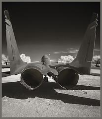 Pima A&S #22 IR 2018; MiG-29 (hamsiksa) Tags: aviation aircraft airplanes aeroplanes jets military fighters soviets migs coldwar blackwhite infrared digitalinfrared infraredphotography history aviationhistory militaryhistory airwar airmuseums aviationmuseums arizona tucson