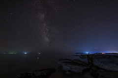 On the beach... (Tobi Becq) Tags: strand istrien kroatien beach croatia istria nightscape uww ultrawideangle longexposure milkyway thunderstorm
