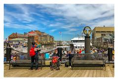 Long Wharf (Timothy Valentine) Tags: 2018 0618 bench people boats large monday boston massachusetts unitedstates us