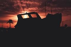 Boats... (hobbit68) Tags: spain fujifilm xt2 espagne espana espanol spanien sunshine sunset sun abends boats boote barcos silhouette palme dark andalucia andalusien sky himmel clouds wolken