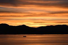 stripes of sunset (werewegian) Tags: ferry dunoon river clyde sunset scotland evening silhouette water werewegian jun18