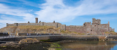 Peel Castle (OgniP) Tags: castle peel isleofman fortress sky water