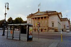Berlin Staatsoper Unter den Linden 29.7.2018 (rieblinga) Tags: berlin mitte unter den linden staatsoper baustelle u55 bvg bus haltestelle analog fuji gsw 690iii kodak ektar 100