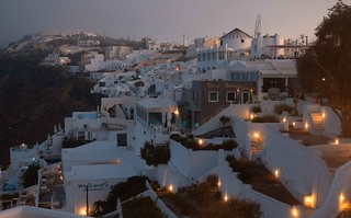 Thira foggy morning