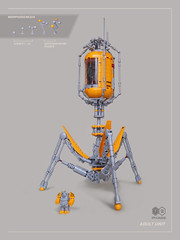 Invader T3 Phage (Dwalin Forkbeard) Tags: lego moc spaceship space virus biology dna scifi
