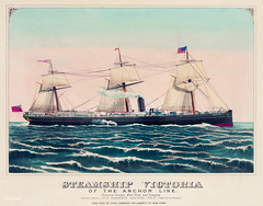 Steamship Victoria of the Anchor Line by an unknown artist, published by Charles Lubrecht (c.1876). Original from Library of Congress. Digitally enhanced by rawpixel. (Free Public Domain Illustrations by rawpixel) Tags: america american anchor anchorline antique art charles charleslubrecht design drawing drawings enormous flags gigantic glasgow grand great handcolored huge illustrated illustration large line locimage lubrecht massive newyork old picture prints sail sailing ship sketch states steam steamship steamshipvictoria transit transport transportation travel travelling united unknownauthor victoria vintage voyages