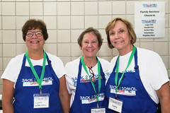 Board Member Cathy Cantor (far right)