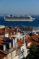 Close quarters (Dan Haug) Tags: chiado emenda lisbon lisboa portugal tagus tejo river cruiseliner ship view architecture rooftops theviewfromhere xf1655 xf1655mmf28rlmwr xpro2 fujifilm sooc skyline