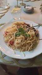 Krögar'n tipsar 8/8 (Atomeyes) Tags: mat lax pasta spaghetti ingefära sjögräs sallad vatten citron