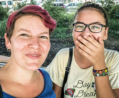 Selfies with Strangers 023b: Semiha (Melissa Maples) Tags: antalya turkey türkiye asia 土耳其 apple iphone iphonex cameraphone summer me melissa maples selfportrait woman brunette shorthair pinkhair selfieswithstrangers