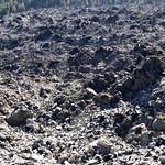 Many of black volcanic glass rocks thumbnail