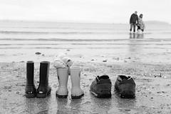 Feet and family (timnutt) Tags: 35f2wr acros 35mm fujifilm sea ocean wales llyn beach child monochrome lleyn abersoch xt2 fuji bw mono family blackandwhite children holiday