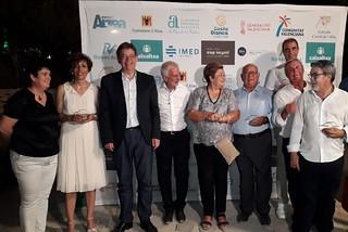 El president de la Generalitat, Ximo Puig, visita la exposición '32 carteles del Castell de l'Olla', participa en la entrega de los premios Illeta d'Or y asiste al disparo del Castell de l'Olla 2018. (11/08/2018)