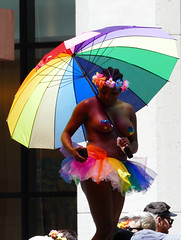 the 2018 san francisco pride parade (nolehace) Tags: 2018 pride parade 618 event summer nolehace fz1000 gay lgbtq lesbian people crowd rainbow umbrella sanfrancisco