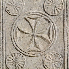 Saint John Cross (Adaptabilly) Tags: stone square lumixg1 symbols travel carving decoration architecture ephesos efes greek turkey ephesus asia