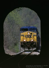 (SEE & HEAR)---CSX 212 213 Winding Gulf Jct, WV 5-04-08 (jackdk) Tags: csx csxt coal coaltrain coaldrag tunnel windinggulf windinggulfjunction train railroad railway ge gelocomotive locomotive geac44 ac4400cw ac4400 ac44 bridge seeandhear seehear