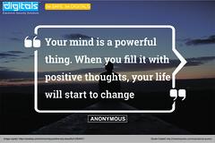 Positive thoughts (saksham26) Tags: bepositive stayinindia tuesdaythoughts tuesdaymotivation independenceday2018 cctv besafebedigitals disspl
