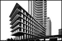 Amstel Tower. (alamsterdam) Tags: amsteltower blackandwhite modernarchitecture amstelstation meiningerhotel