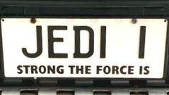 JEDI I (Lee Bennett) Tags: tag vanity custom plate license
