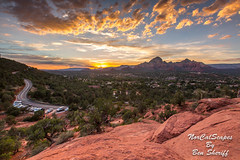 Sedona Arizona Sunset (Ben Sheriff Photography) Tags: sedona arizona northernarizona sunset sky redrock landscape landscapephotography monsoon mountains