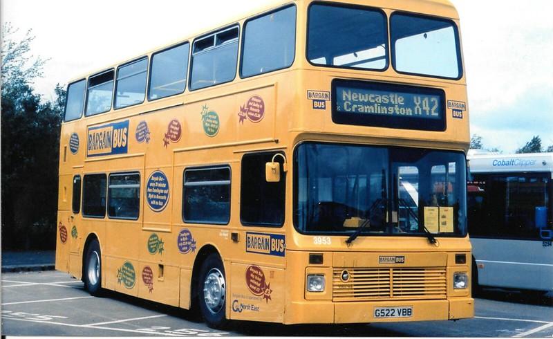 Go North East Bargain Bus 3953 / G522 VBB
