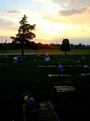 I Say Alittle Pray For You.. (lillypotpie) Tags: sunset august16th summer graveyard flowers tree