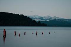 DSC_0072 (Carolina Fallo) Tags: landscape paisaje paisajes blue azul sunset atardecer anochecer lake lago ocean sea mountain montaña montañas