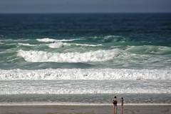 the wall (chris.branruz) Tags: lacanau bath swimmer swim suit bikini vague waves sea women