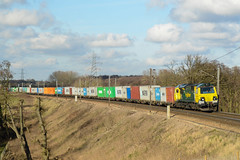 70003 Brantham 16/02/16 - With Freightliner using their Class 70 sporadically, the sight such as this one is becoming increasing rare. 70003 thunders along the GEML at Brantham with 4M93 towards Lawley Street. (rhayward92) Tags: 70003 class 70 freightliner brantham 4m93
