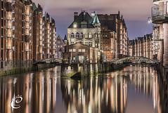 My Hamburg (E-L-C-I-N) Tags: hamburg germany hh city elchin europa stadt hafen elbe building architecture river night clouds sony photographer jabbarov