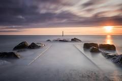 Cleveleys coast (archi-image) Tags: 5d fylde benro bigstopper canon cleveleys coast lancashire landscape lee longexposure post rocks rossall sea sunset