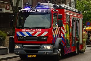 Dutch Firetruck at an Building Fire in Rotterdam